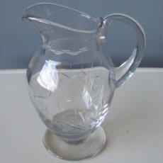Antiquitäten - JARRA de cristal .. con fino labrado - 18944432