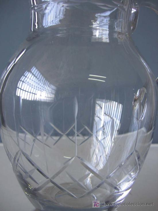 Antigüedades: JARRA de cristal .. con fino labrado - Foto 2 - 18944432