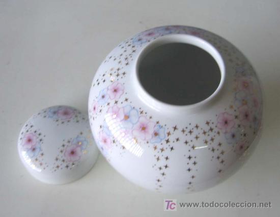 Antigüedades: JARRON .. EME Made In Spain porcelana elaborada . Con seleccionadas pastas y esmaltes de Limoges - Foto 3 - 66789019