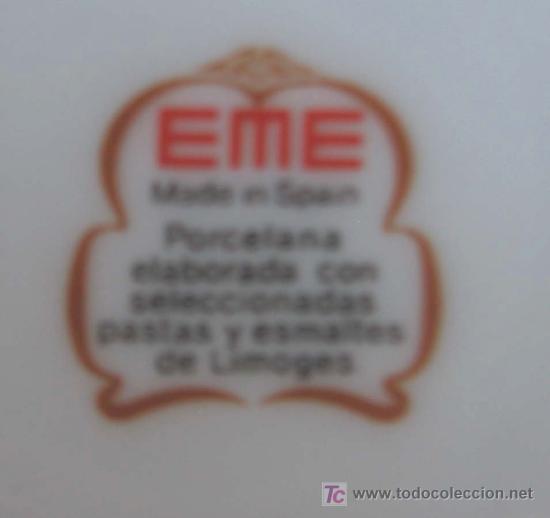 Antigüedades: JARRON .. EME Made In Spain porcelana elaborada . Con seleccionadas pastas y esmaltes de Limoges - Foto 4 - 66789019