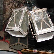 Antiquitäten - Pareja de antiguos faroles. 24x12x12 cm - 26787224