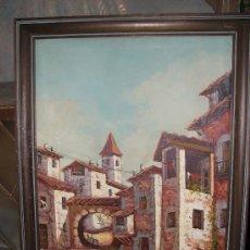 Antigüedades - Antiguo cuadro oleo sobre lienzo. 82x63 cm - 27508357