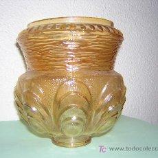 Antigüedades: TRES TULIPAS PARA LAMPARA, MEDIDAS 16 CM. DE ALTO 14 CM. DE DIAMETRO. Lote 27087197