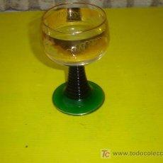 Antigüedades: COPA DE CRISTAL TORNEADO Y PINTADO. Lote 6992931