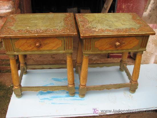 Antigüedades: Espectacular cama, mesitas y sillas - Foto 6 - 27161157