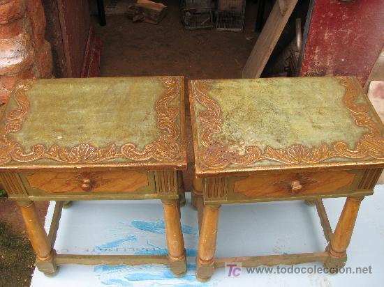 Antigüedades: Espectacular cama, mesitas y sillas - Foto 7 - 27161157