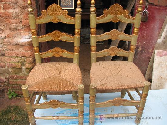 Antigüedades: Espectacular cama, mesitas y sillas - Foto 8 - 27161157