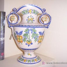 Antigüedades: REBAJADO. GRAN ANFORA DE MANISES FIRMADA POR GIMENO. Lote 26759240