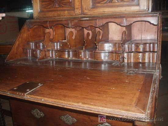 Antigüedades: Alacena, buro-escritorio, cajonera medida 240X104X55. - Foto 2 - 24196334
