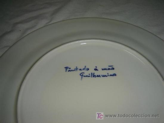 Antigüedades: plato grande pintado a mano - Foto 2 - 7196501