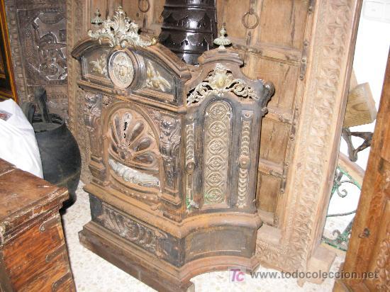 Chimenea salamandra de hierro fundido y bronce comprar for Chimenea hierro fundido