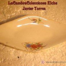 Antigüedades: ANTIGUA BANDEJITA EN LOZA, DETALLES FLORALES, HACIA 1920. Lote 7317947