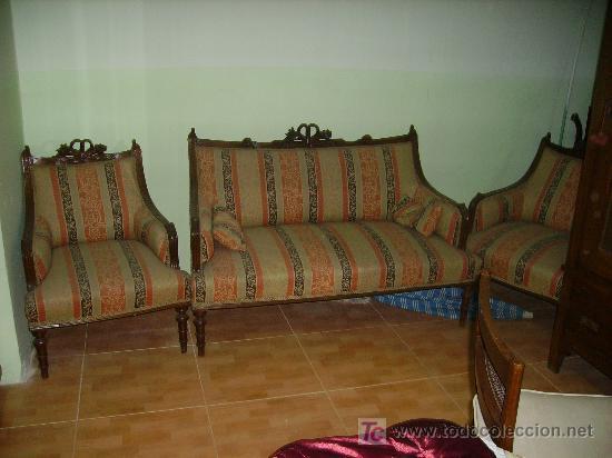Juego de tresillo comprar sof s antiguos en for Muebles el tresillo