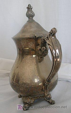 Antigüedades: CAFETERA DE ALPACA PLATEADA - Foto 5 - 19469151