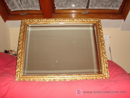 OFERTA!!!!! ESPEJO VINTAGE CON MARCO DE MADERA TALLADA (Antigüedades - Muebles Antiguos - Espejos Antiguos)
