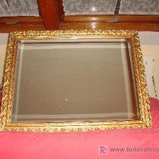 Antigüedades: OFERTA!!!!! ESPEJO VINTAGE CON MARCO DE MADERA TALLADA. Lote 18797596