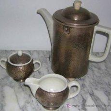 Antigüedades: WMF HUTSCHENREUTHER JUEGO DE CAFE ART DECO,,,,. Lote 26342839