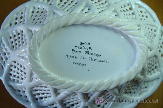 Cesto de ceramica trenzada portuguesa decorada comprar Ceramica portuguesa online