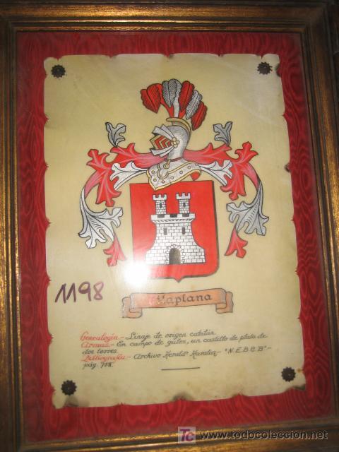 cuadro con escudo de apellido vilaplana, 45 x 3 - Comprar Marcos ...