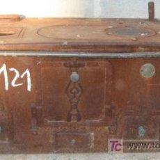 Antigüedades: COCINA-ESTUFA ECONÓMICA DE 117X54X48 CMS, NO SE ENVIA. Lote 26106705