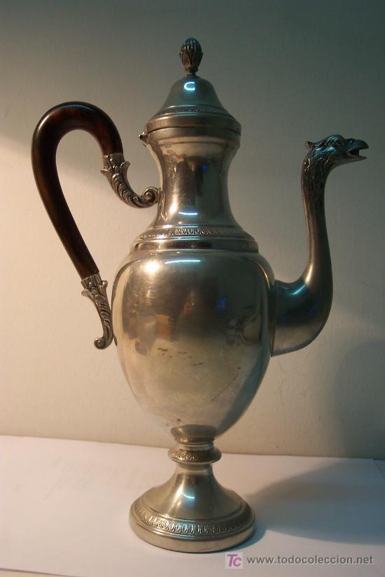 Antigüedades: Juego servicio de café en estaño - Foto 2 - 27024773
