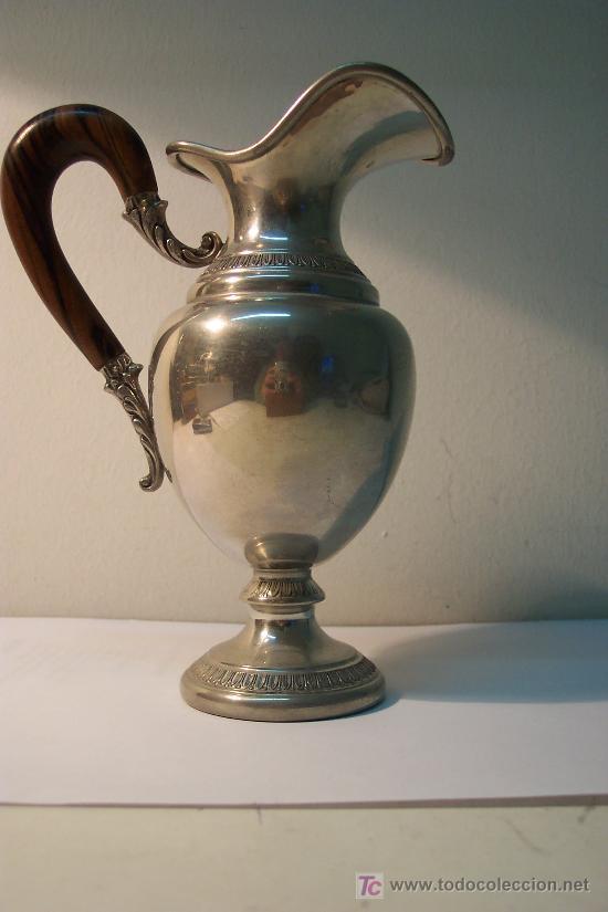 Antigüedades: Juego servicio de café en estaño - Foto 3 - 27024773