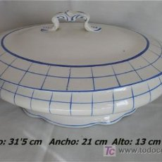 Antigüedades: PRECIOSA SOPERA ANTIGUA SAN JUAN DE AZNALFARACHE SEVILLA. Lote 26641804