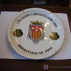Antigüedades: PLATO RÚSTICO AÑO SANTO COMPOSTELANO 1982 MONASTERIO DE POYO. Lote 25270845