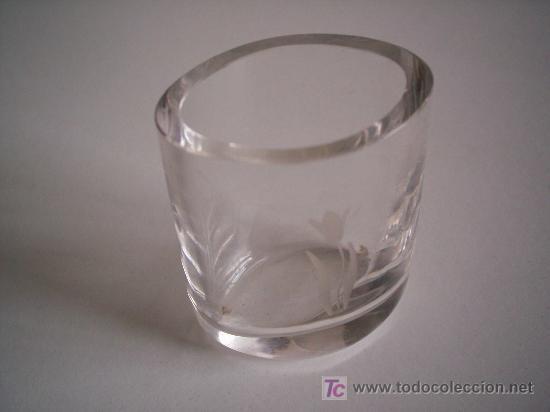 PALITERO DE CRISTAL FIRMADO ORREFORS. (Antigüedades - Cristal y Vidrio - Orrefors )