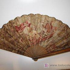 Antigüedades: ABANICO DE TELA. Lote 26222427
