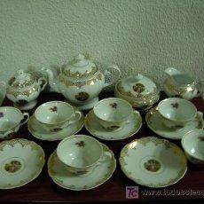 Antigüedades: MAGNIFICO JUEGO DE TÉ O CAFÉ, DE LOS AÑOS 50 DE FINÍSIMA Y SONORA PORCELANA.. Lote 27323833