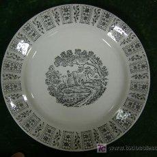 Antigüedades: ANTIGUO PLATO DE SAN CLAUDIO OVIEDO. Lote 26445306