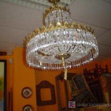 Antigüedades: ANTIGUA LAMPARA DE CRISTAL. Lote 26561937