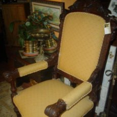 Antigüedades: PRECIOSO SILLON DE ROBLE. Lote 26646618