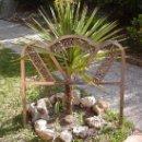 Antigüedades: PRECIOSO CABECERO NIQUELADO DE CAMA PEQUEÑA. Lote 21094472