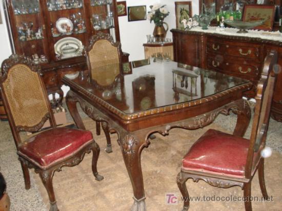 Muebles comedor completo estilo chippendale d comprar - Segunda mano muebles antiguos ...