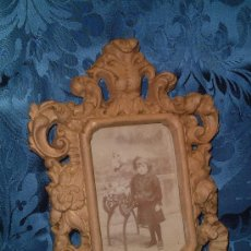 Antigüedades: MARCO DE TERRACOTA RELIEVE, FF.SG.XIX. 1870 -1890. 28 CM. X 21 CM. . Lote 10107987