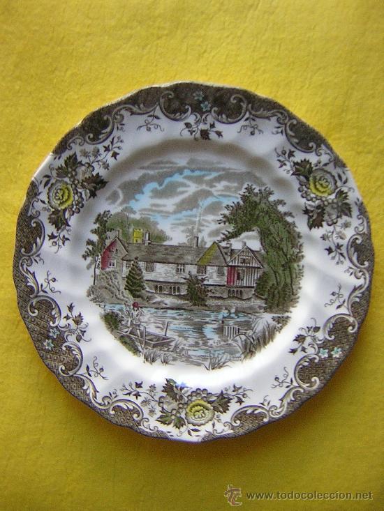 PLATO LLANO INGLES DE 24´5 CM. DE DIAMETRO (Antigüedades - Porcelanas y Cerámicas - Inglesa, Bristol y Otros)