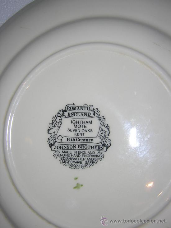 Antigüedades: Plato llano ingles de 24´5 cm. de diametro - Foto 2 - 26312016