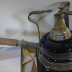 Antigüedades: HORNILLO DE VIDRIO AZUL. Lote 8032428