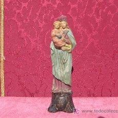 Antigüedades: IMAGEN ANTIGUA DE LA VIRGEN CON NIÑO. Lote 8078829