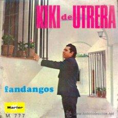 Discos de vinilo: KIKI DE UTRERA , GUITARRISTA MANOLO SANLUCAR : FANDANGOS, EP 1968 MARFER , NUEVO. Lote 114145270