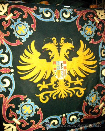 Antigüedades: Antiguo Escudo Heraldico de reposteria, bordado, etc. Medida 138x1,38 cm - Foto 2 - 24196351