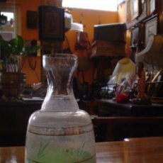 Antigüedades: BOTELLA DE CRISTAL. Lote 27213422