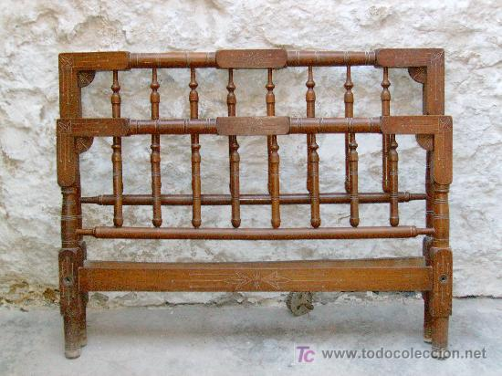 Cama antigua comprar camas antiguas en todocoleccion - Camas de madera antiguas ...