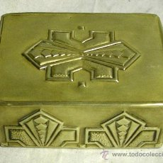 Antiquitäten - Joyero o tabaquera de bronce, estilo Art Decó años 30, med. 10 x 8 x 5 cm, - 26991004