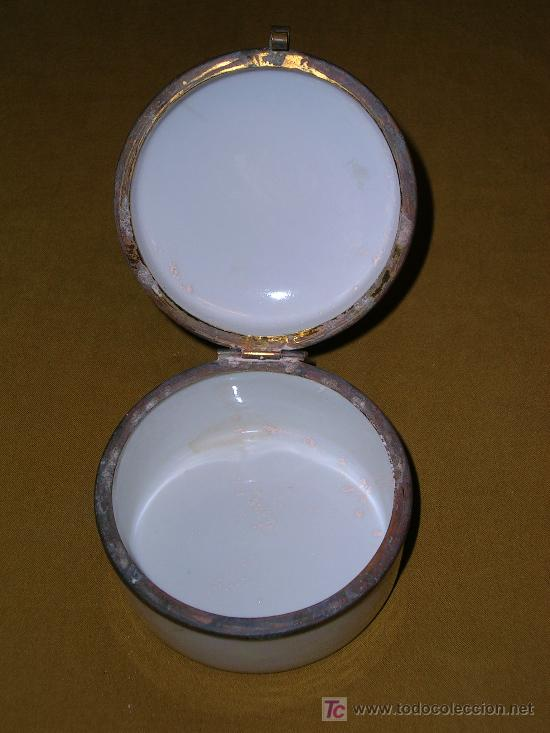 Antigüedades: Preciosa cajita de porcelana anacarada - Foto 3 - 26676957