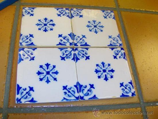 Lote panel 4 antiguos azulejos de fachadas cas comprar azulejos antiguos en todocoleccion - Venta azulejos online ...