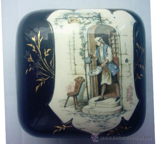 ANTIGUA CAJA O JOYERO, CERÁMICA (Antigüedades - Porcelanas y Cerámicas - Otras)