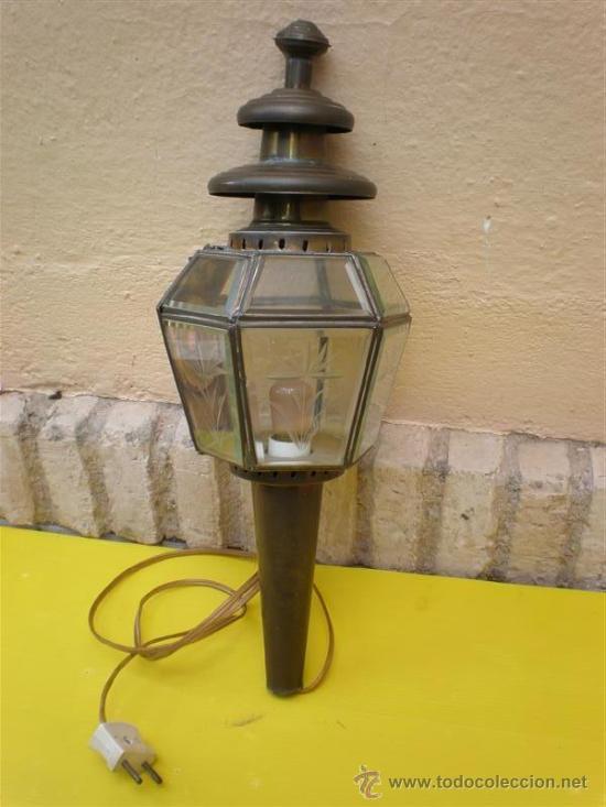 FAROL DE COBRE (Antigüedades - Iluminación - Faroles Antiguos)